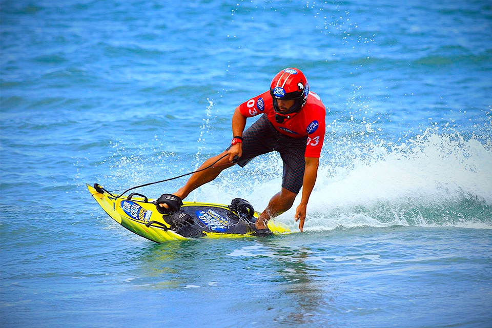 Jet surf board with an engine makes waves optional Surf board motor